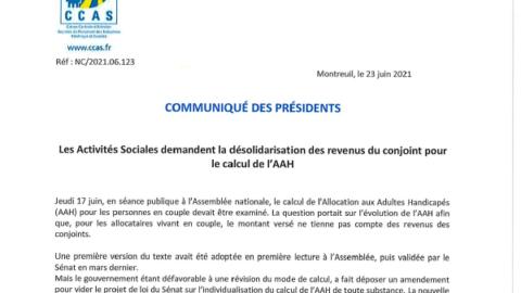 Les Activités Sociales demandent la désolidarisation des revenus du conjoint pour le calcul de l'AAH