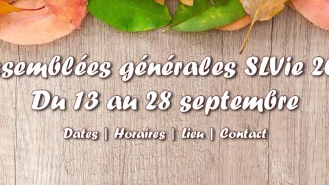 RDV des assemblées générales SLVie 2021